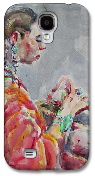 Angelica Galaxy S4 Case by Becky Kim