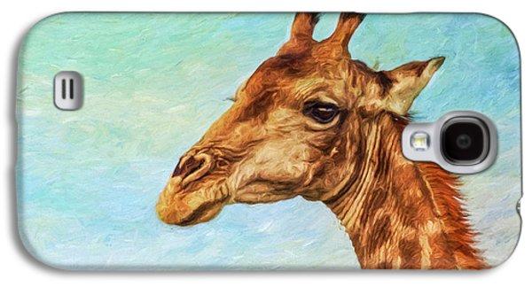 Angolan Giraffe Portrait Galaxy S4 Case by Liz Leyden