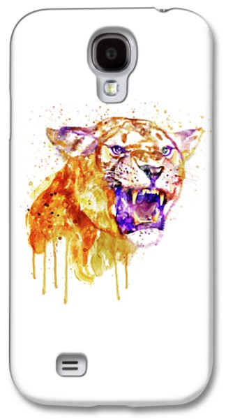 Angry Lioness Galaxy S4 Case by Marian Voicu