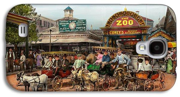 Animal - Goats - Coney Island Ny - Kid Rides 1904 Galaxy S4 Case by Mike Savad