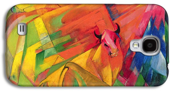 Animals In A Landscape Galaxy S4 Case by Franz Marc