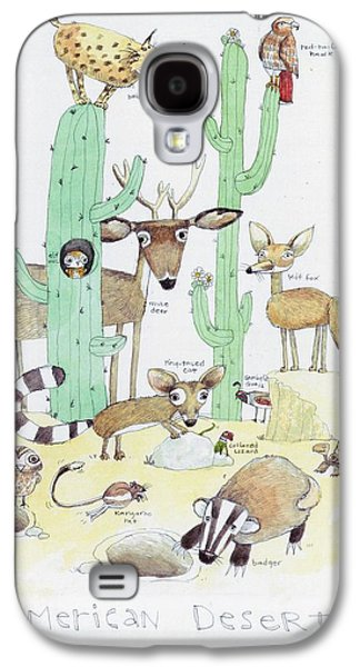 Animals With Cacti In Desert - F Galaxy S4 Case