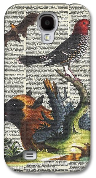 Animals Zoology Old Illustration Over A Old Dictionary Page Galaxy S4 Case by Jacob Kuch