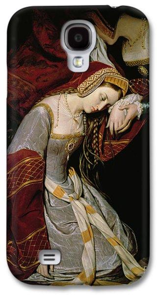 Anne Boleyn In The Tower Galaxy S4 Case by Edouard Cibot