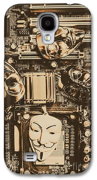 Anonymous Cyber Masks Galaxy S4 Case by Jorgo Photography - Wall Art Gallery