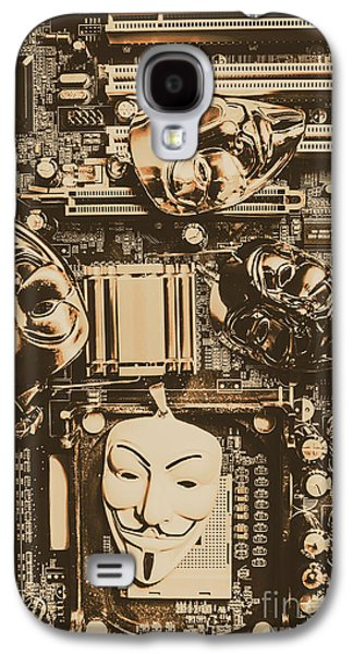 Anonymous Cyber Masks Galaxy S4 Case