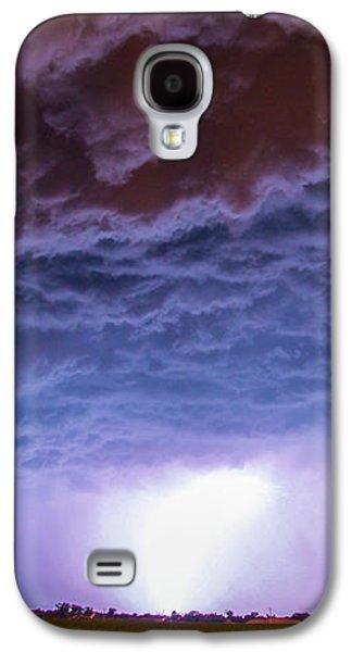 Nebraskasc Galaxy S4 Case - Another Impressive Nebraska Night Thunderstorm 007 by NebraskaSC