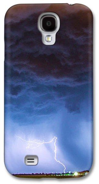 Nebraskasc Galaxy S4 Case - Another Impressive Nebraska Night Thunderstorm 008/ by NebraskaSC
