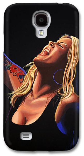 Anouk In Concert Painting Galaxy S4 Case by Paul Meijering