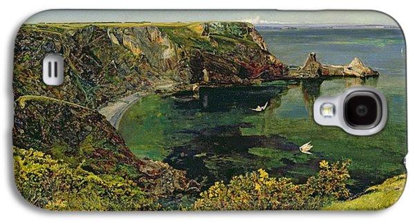 Fishing Village Galaxy S4 Cases - Ansteys Cove in Devon Galaxy S4 Case by John William Inchbold