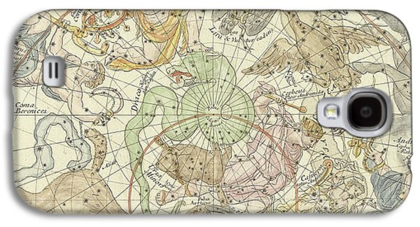Antique Celestial Map Galaxy S4 Case by Carel Allard