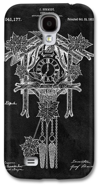 Antique Cuckoo Clock Patent Galaxy S4 Case by Dan Sproul