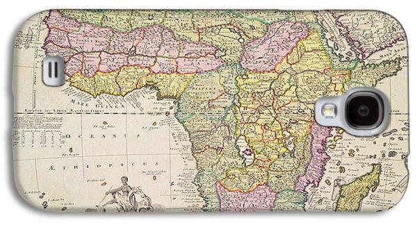 Antique Map Of Africa Galaxy S4 Case by Pieter Schenk