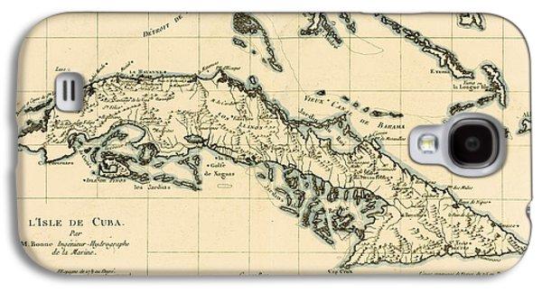 Antique Map Of Cuba Galaxy S4 Case