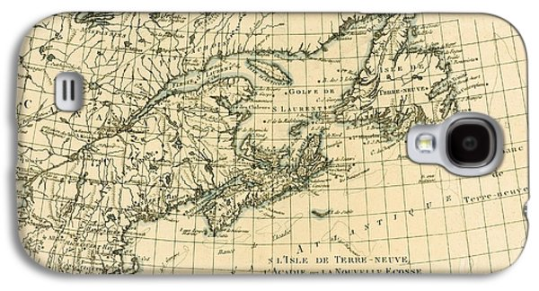 Antique Map Of Eastern Canada Galaxy S4 Case by Guillaume Raynal