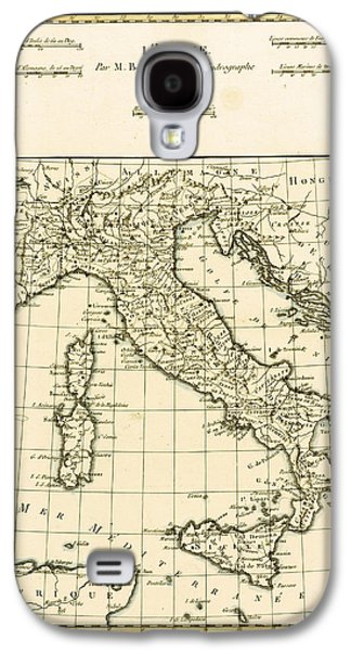 Antique Map Of Italy Galaxy S4 Case
