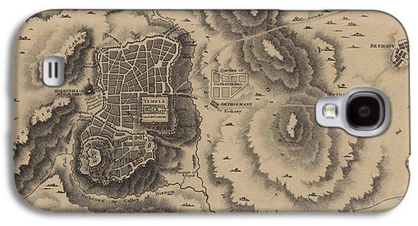 Antique Map Of Jerusalem Galaxy S4 Case