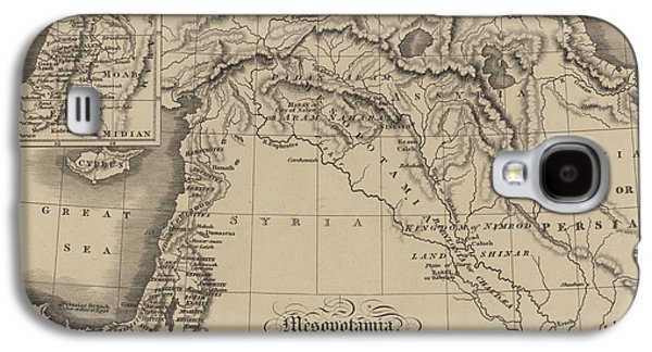 Antique Map Of Mesopotamia With Canaan And Other Parts Of The Middle East Galaxy S4 Case
