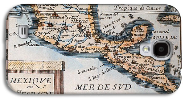 Antique Map Of Mexico Or New Spain Galaxy S4 Case by French School