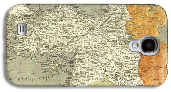 Antique Map Of Turkey Galaxy S4 Case by Celestial Images