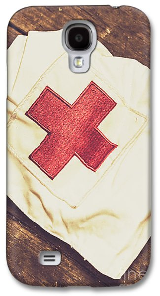Antique Nurses Hat With Red Cross Emblem Galaxy S4 Case