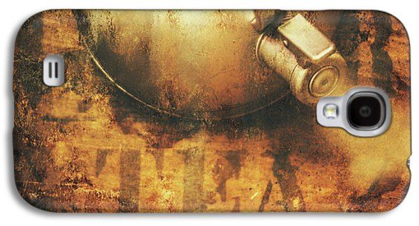 Antique Old Tea Metal Sign. Rusted Drinks Artwork Galaxy S4 Case