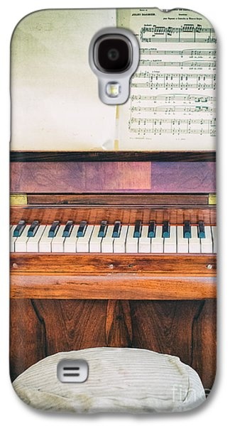 Galaxy S4 Case featuring the photograph Antique Piano And Music Sheet by Silvia Ganora