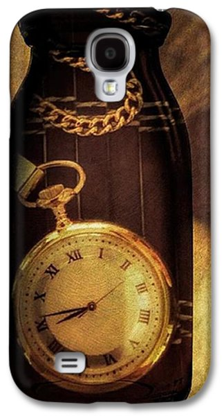 Antique Pocket Watch In A Bottle Galaxy S4 Case by Susan Candelario