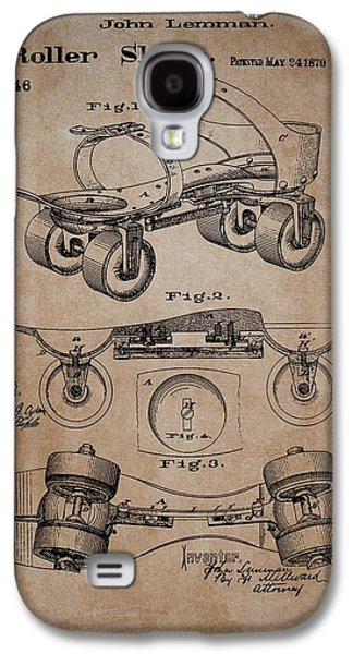 Antique Roller Skates Patent Galaxy S4 Case by Dan Sproul