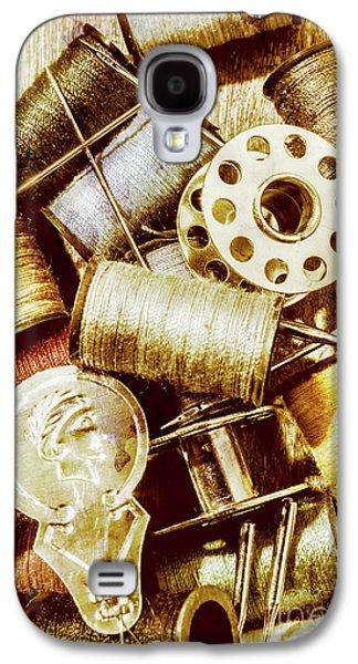 Antique Sewing Artwork Galaxy S4 Case