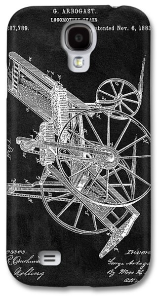 Antique Wheelchair Patent Galaxy S4 Case by Dan Sproul