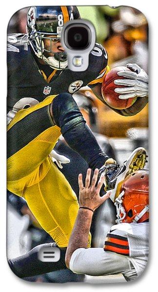 Antonio Brown Steelers Art 5 Galaxy S4 Case by Joe Hamilton