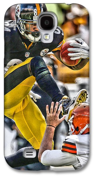 Antonio Brown Steelers Art 5 Galaxy S4 Case