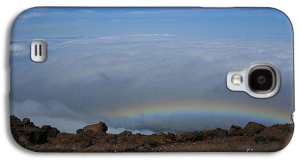 Anuenue - Rainbow At The Ahinahina Ahu Haleakala Sunrise Maui Hawaii Galaxy S4 Case