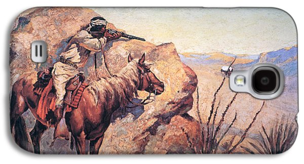 Apache Ambush Galaxy S4 Case by Frederic Remington