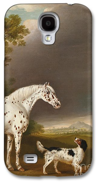 Appaloosa Horse And Spaniel Galaxy S4 Case by Thomas Weaver
