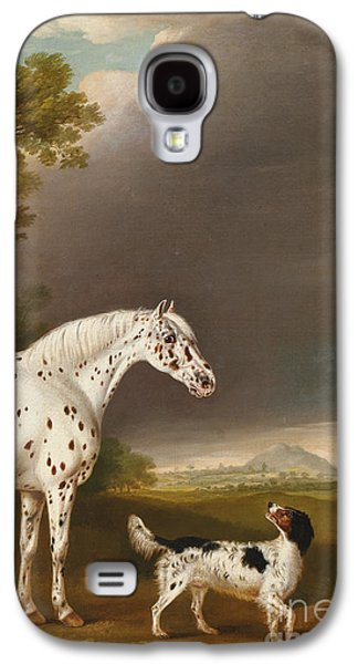 Appaloosa Horse And Spaniel Galaxy S4 Case by Thomas Weaver