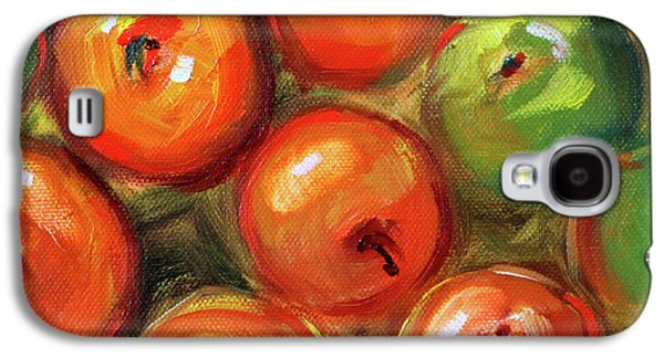 Galaxy S4 Case featuring the painting Apple Barrel Still Life by Nancy Merkle