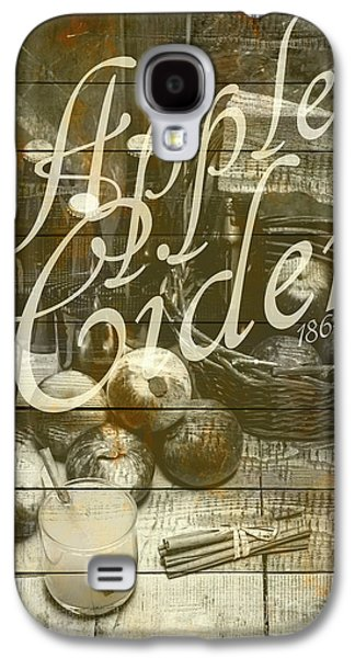 Apple Cider Sign Printed On Rustic Wood Planks Galaxy S4 Case