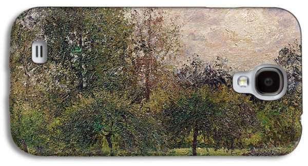 Apple Trees And Poplars In The Setting Sun Galaxy S4 Case by Camille Pissarro