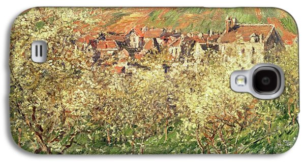 Apple Trees In Blossom Galaxy S4 Case by Claude Monet