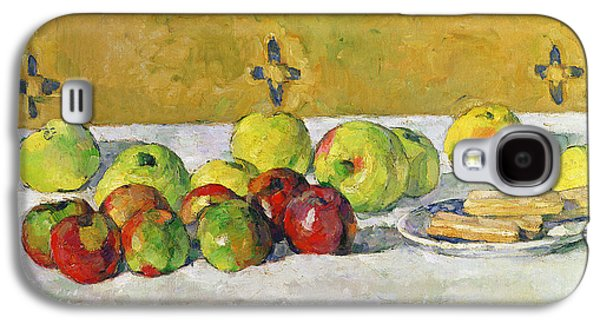 Apples And Biscuits Galaxy S4 Case by Paul Cezanne