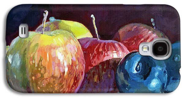 Apples And Plums  Galaxy S4 Case by David Lloyd Glover