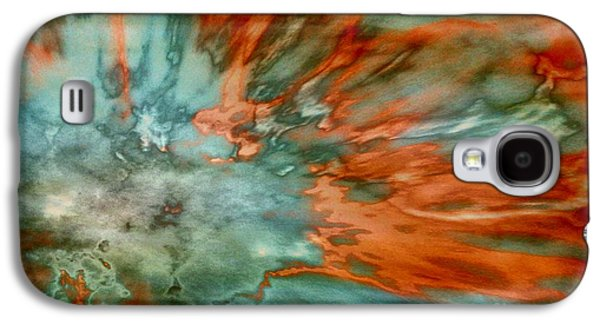 Abstract Digital Paintings Galaxy S4 Cases - Apricot Surge Galaxy S4 Case by TLynn Brentnall