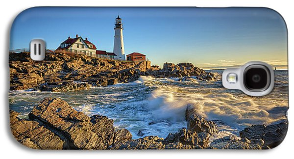 April Morning At Portland Head Galaxy S4 Case by Rick Berk