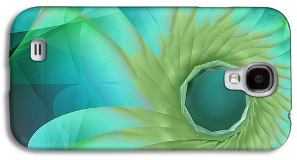 Aqua In Bloom Galaxy S4 Case by Mindy Sommers
