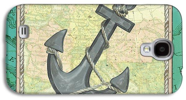 Aqua Maritime Anchor Galaxy S4 Case