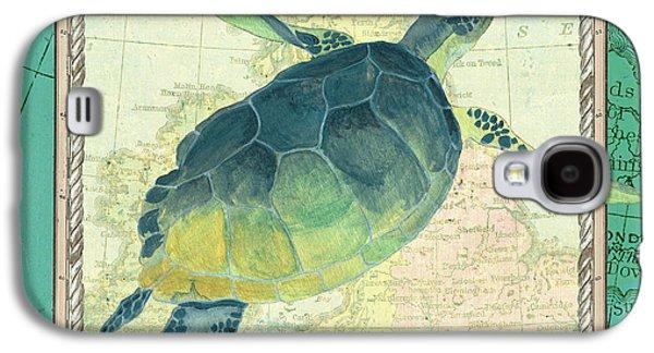Reptiles Galaxy S4 Case - Aqua Maritime Sea Turtle by Debbie DeWitt