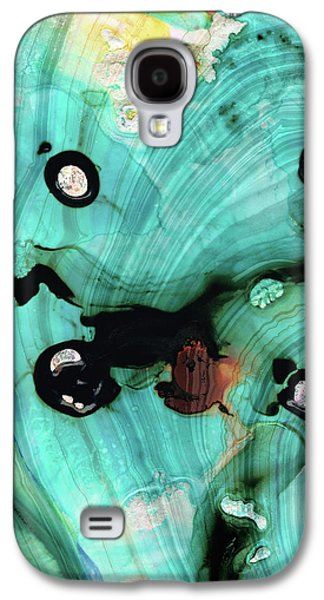 Aqua Teal Art - Volley - Sharon Cummings Galaxy S4 Case by Sharon Cummings