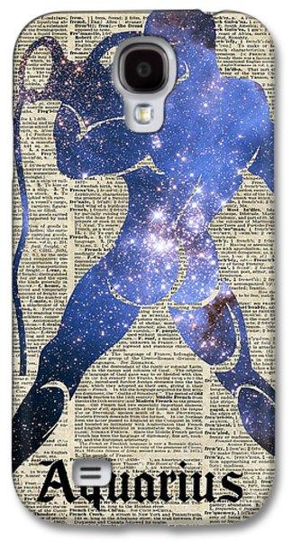 Aquarius The Water-bearer - Zodiac Sign Galaxy S4 Case by Jacob Kuch